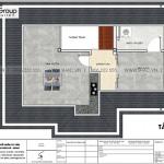 21 Bản vẽ tầng tum biệt thự 4 phòng ngủ kiểu tân cổ điển tại khu đô thị vinhomes imperia hải phòng vhi 007