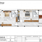 3 Bản vẽ tầng 2 nhà ống 4 tầng kết hợp căn hộ cho thuê tại vũng tàu sh nod 0214
