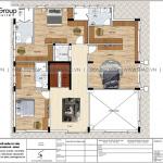 5 Bản vẽ tầng 2 biệt thự đẹp kiểu tân cổ điển tại hà nội sh btp 0151