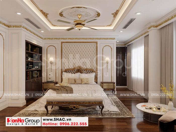 Mẫu phòng ngủ đẹp phong cách tân cổ điển châu Âu sang trọng
