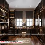 5 Bố trí nội thất phòng thay đồ biệt thự tân cổ điển tại khu đô thị vinhomes imperia hải phòng vhi 007
