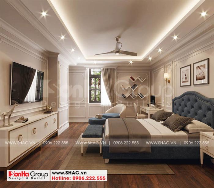 Mẫu thiết kế phòng ngủ đẹp sử dụng nội thất gỗ và sàn gỗ màu sắc tinh tế