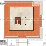 7 Bản vẽ tầng tum biệt thự tân cổ điển 2 mặt tiền tại hà nội sh btp 0151