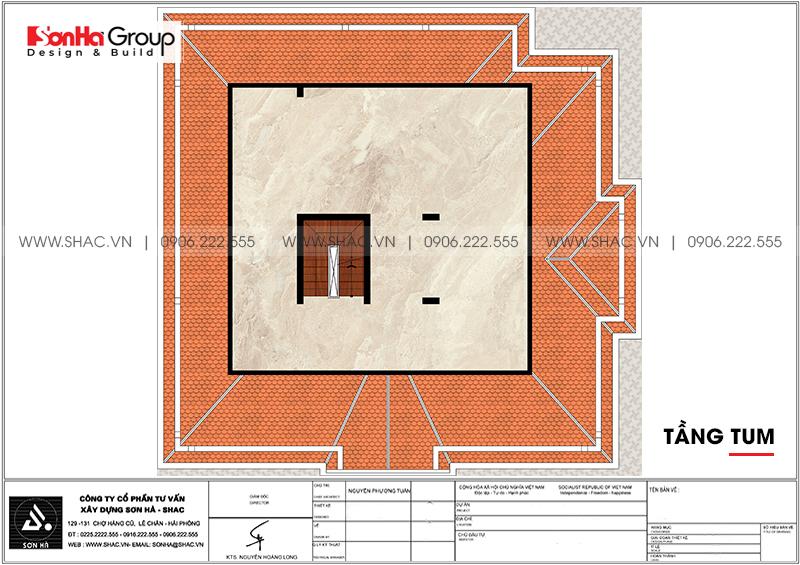 Mẫu biệt thự tân cổ điển 3 tầng 2 mặt tiền đẹp tại Hà Nội - SH BTP 0151 7