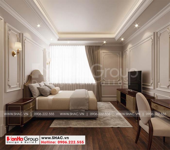 Đây cũng là cách bố trí nội thất phòng ngủ sử dụng sàn gỗ được yêu thích