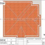 8 Mặt bằng tầng mái biệt thự tân cổ điển mặt tiền 14,3m tại hà nội sh btp 0151