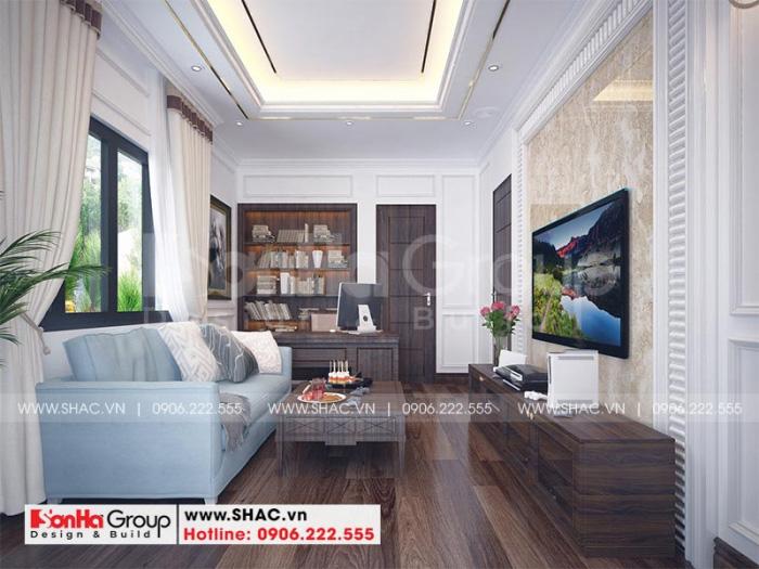 Thiết kế phòng giải trí thoáng đãng với nội thất đẹp, êm ái