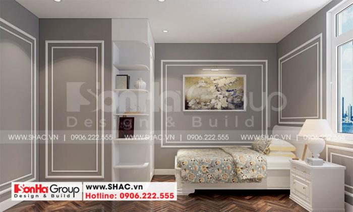 Mẫu thiết kế nội thất phòng ngủ giúp việc giản dị nhưng khá ấn tượng