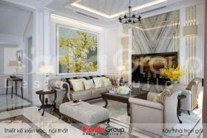 BÌA thiết kế nội thất biệt thự tân cổ điển 3 tầng đẹp tại khu đô thị vinhomes imperia hải phòng vhi 007