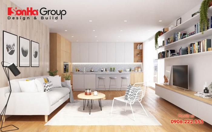 Lấy phòng bếp làm trung tâm tạo sự liên hoàn cho không gian sống