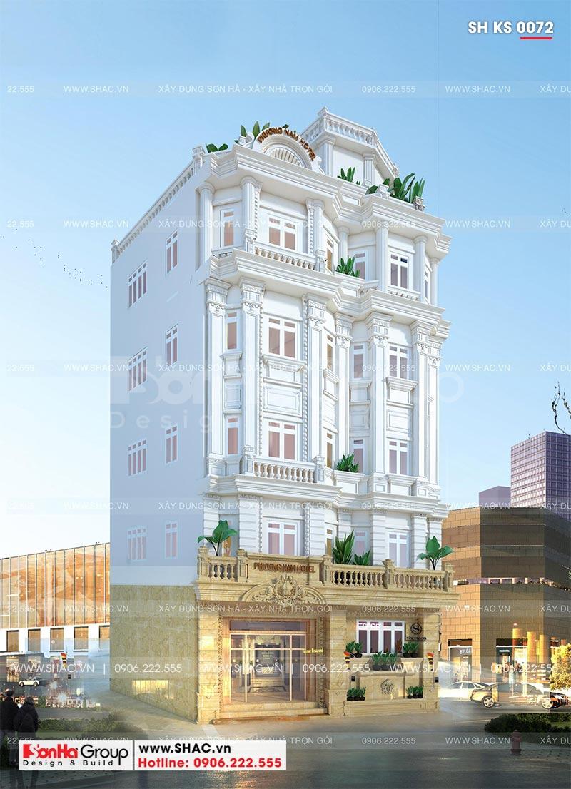 Mẫu khách sạn đẹp tiêu chuẩn 3 sao phong cách tân cổ điển tại Nha Trang – SH KS 0072 1