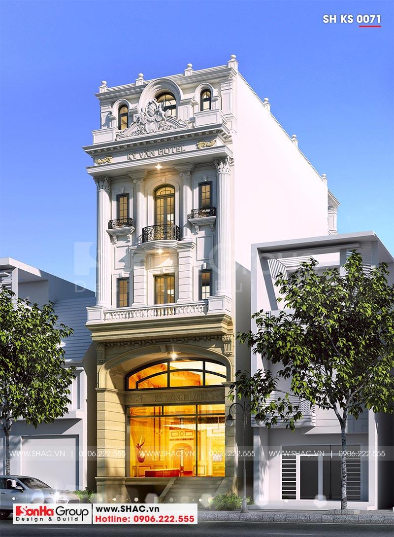 Mẫu thiết kế khách sạn mini 2 sao phong cách tân cổ điển tại Sài Gòn