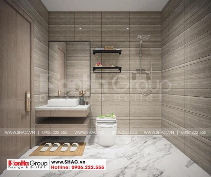 Bố trí phòng tắm hiện đại trong các phòng ngủ khách sạn