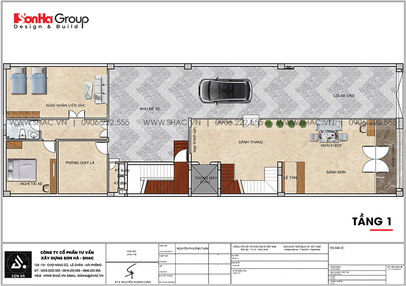 Mẫu nội thất khách sạn mini hiện đại 10m x 30m tiêu chuẩn 2 sao tại Bình Dương - SH KS 0084 2
