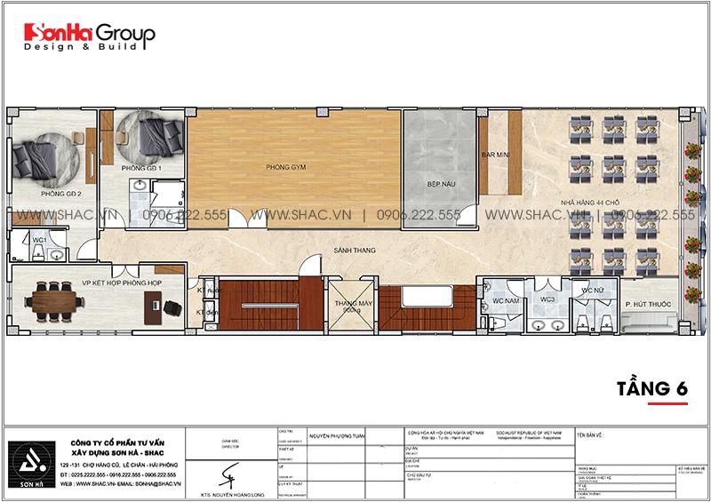Mẫu nội thất khách sạn mini hiện đại 10m x 30m tiêu chuẩn 2 sao tại Bình Dương - SH KS 0084 4