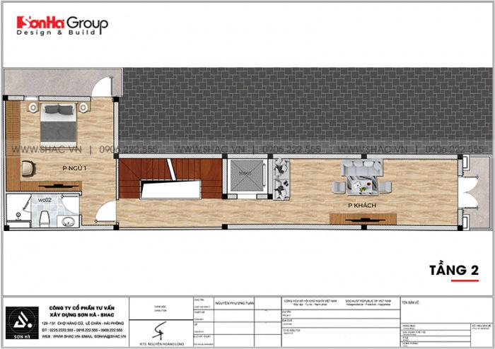 3 Bản vẽ tầng 2 nhà ống tân cổ điển mặt tiền 3,1m tại bình thuận sh nop 0204