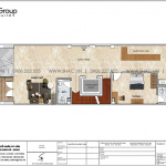 4 Bản vẽ tầng 1 khách sạn tân cổ điển mặt tiền 6m tại sài gòn sh ks 0071