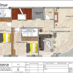 4 Mặt bằng tầng 3 nhà ống tân cổ điển 5 phòng ngủ tại hà nội sh nop 0205
