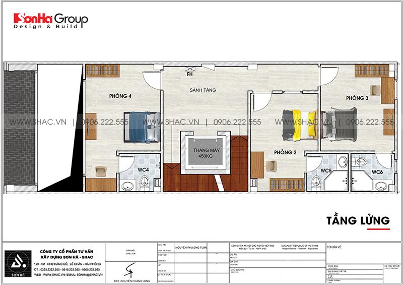 Thiết kế khách sạn mini 2 sao phong cách tân cổ điển tại Sài Gòn – SH KS 0071 5