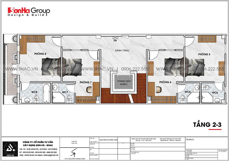 Thiết kế khách sạn mini 2 sao phong cách tân cổ điển tại Sài Gòn – SH KS 0071 6