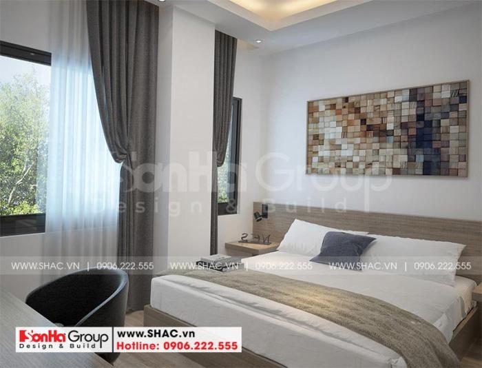 Căn phòng ngủ khách sạn mini 2 sao đều được trang bị đầy đủ vật dụng cùng nội thất cao cấp