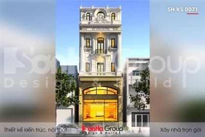 BÌA thiết kế khách sạn 2 sao 3 tầng 1 tum tại sài gòn sh ks 0071