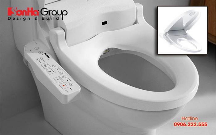 Mẫu bồn cầu vệ sinh thông minh cũng được sử dụng nhiều hiện nay