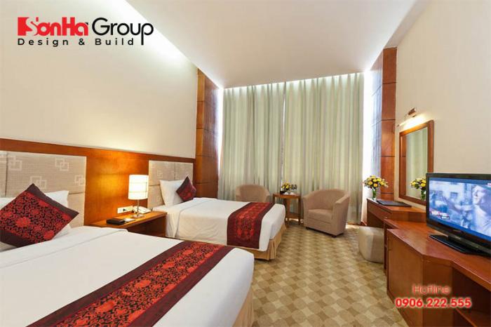 Phòng khách sạn Standard là loại phòng phổ biến và có diện tích không lớn