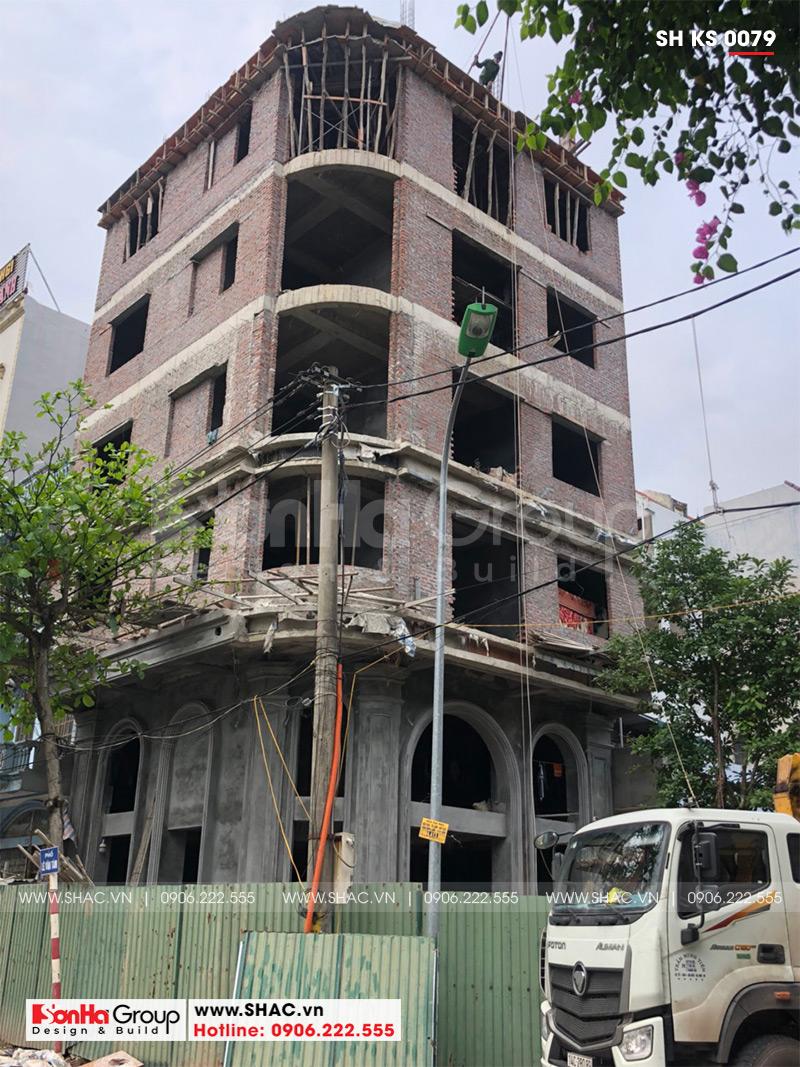 Mẫu khách sạn mini 2 sao kiến trúc tân cổ điển 8,5x9m tại Quảng Ninh – SH KS 0079 2