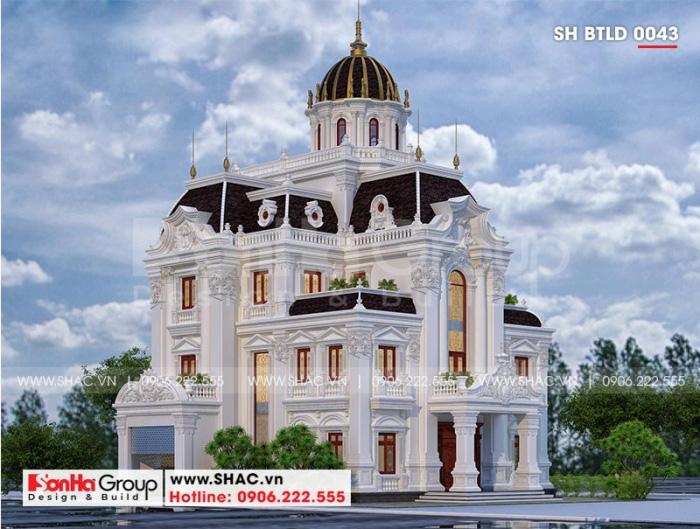 Choáng váng với kiến trúc biệt thự lâu đài 3 tầng xa hoa nhất Hà Nam