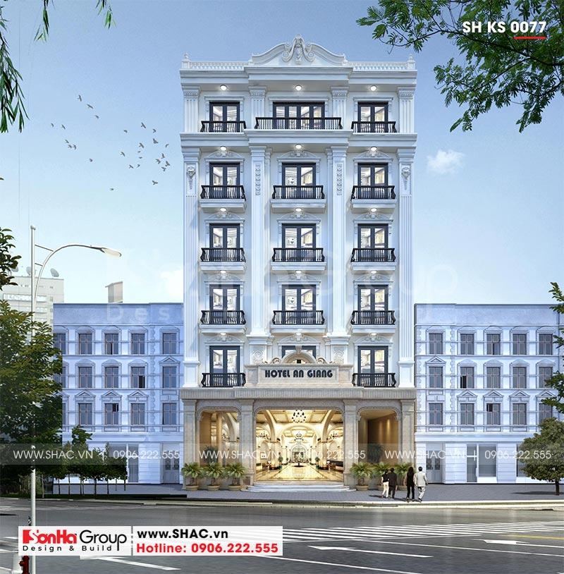 Mẫu thiết kế khách sạn tân cổ điển 3 sao hoàn hảo từng đường nét
