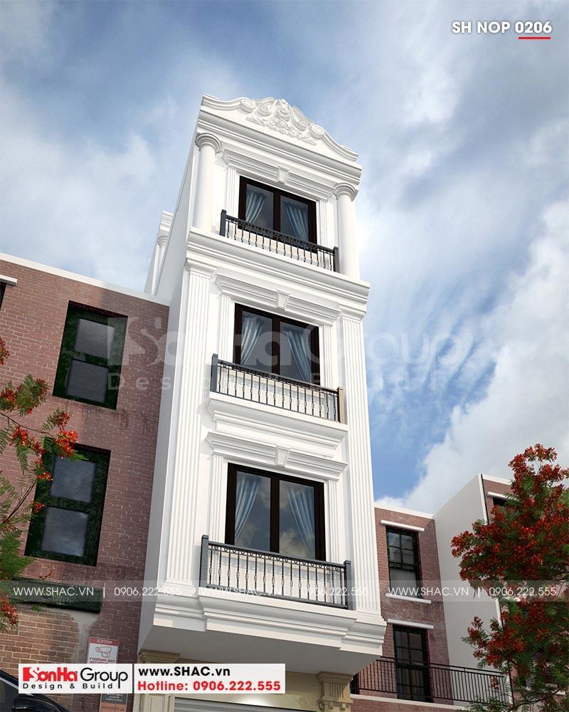 Cận cảnh các đường nét giản dị nhưng có điểm nhấn của mặt tiền nhà phố đẹp