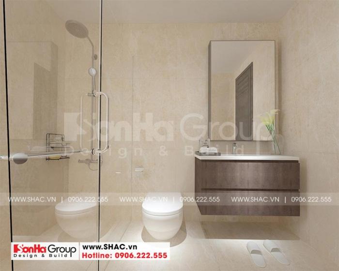 Thiết kế nội thất phòng tắm và vệ sinh được đầu tư quy mô
