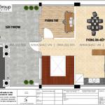 14 Bản vẽ tầng 4 biệt thự liền kề mặt tiền 7m tại vinhomes marina vhi 009