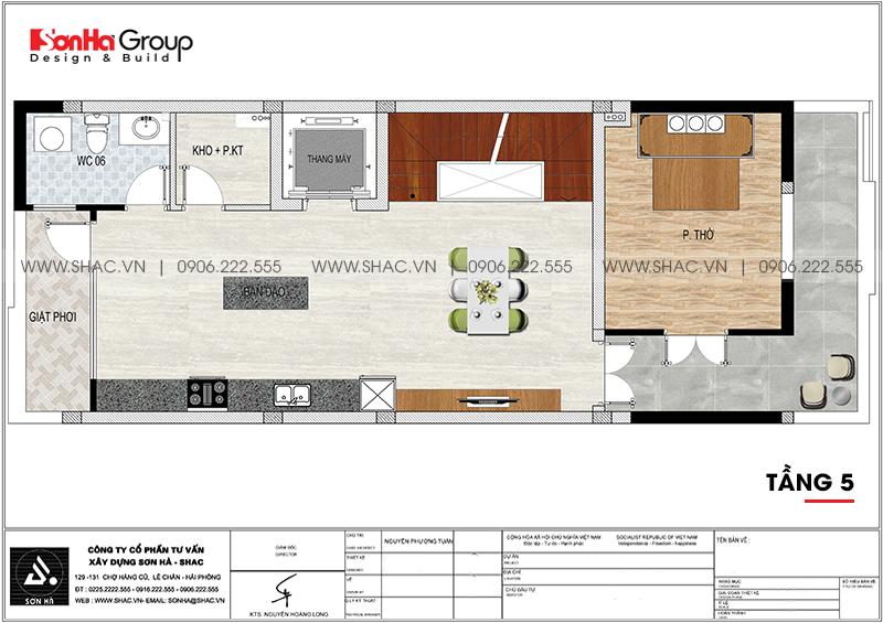 Thiết kế nội thất nhà phố hiện đại kết hợp kinh doanh 5 tầng tại Waterfont City Hải Phòng 16