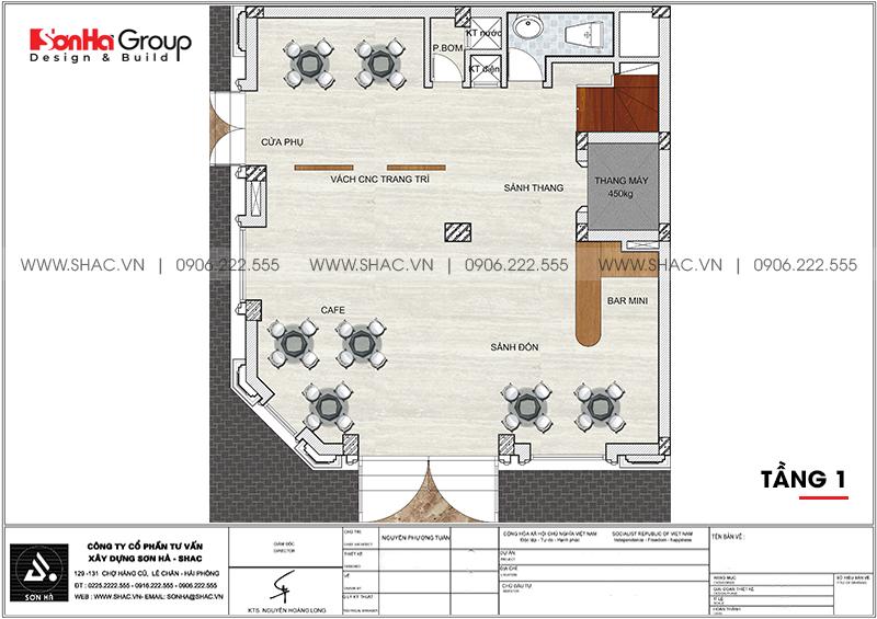 Mẫu khách sạn mini 2 sao kiến trúc tân cổ điển 8,5x9m tại Quảng Ninh – SH KS 0079 3