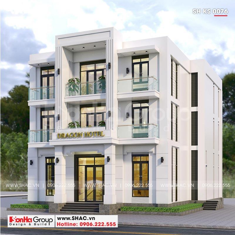 Kinh doanh đại thắng với thiết kế khách sạn hiện đại mini phong thủy tại Quảng Ninh – SH KS 0076 2
