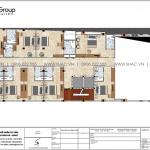 3 Bản vẽ lầu 1 khách sạn tân cổ điển 3 sao tại an giang sh ks 0077