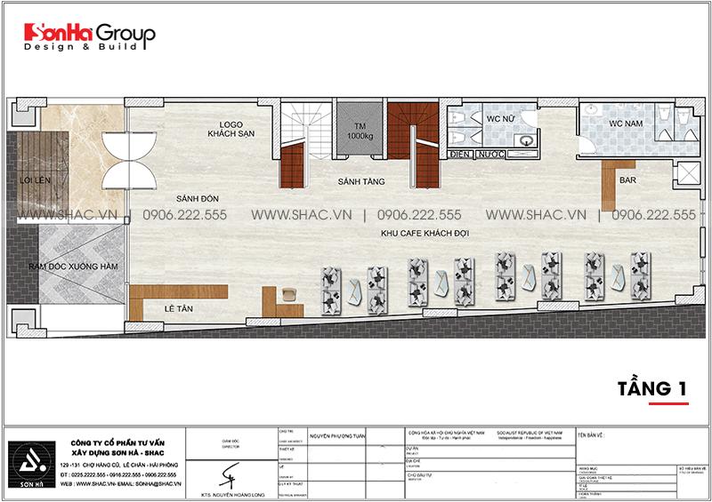 Mẫu thiết kế khách sạn tân cổ điển 3 sao mới nhất tại Phú Quốc (Kiên Giang)- SH KS 0075 3