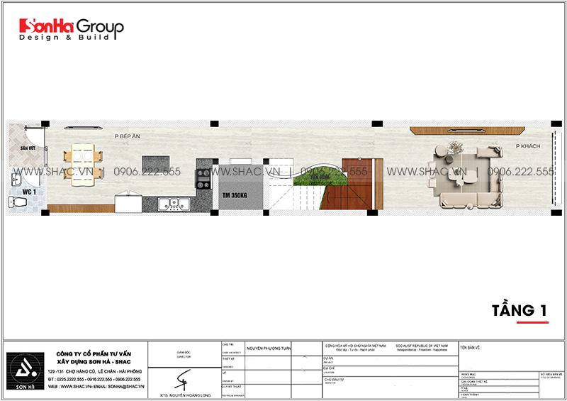 Mẫu thiết kế nhà ống mặt tiền 3m rưỡi hiện đại nhìn là phê tại Hải Dương - SH NOD 0125 3