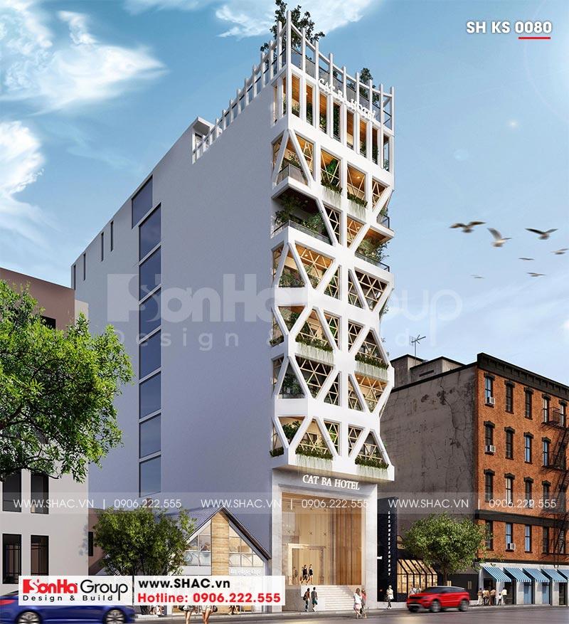 Thiết kế khách sạn hiện đại 3 sao được lập kế hoạch chi phí xây dựng chi tiết