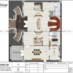 4 Bản vẽ tầng 1 biệt thự lâu đài cổ điển châu âu tại vũng tàu sh btld 0044