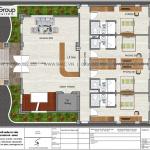 4 Bản vẽ tầng 1 khách sạn hiện đại mặt tiền 14,6m tại quảng ninh sh ks 0076