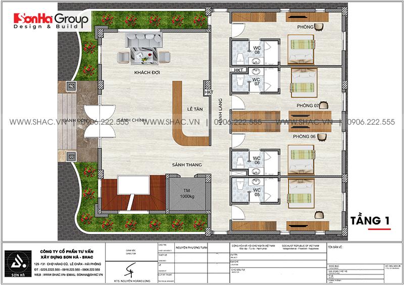 Kinh doanh đại thắng với thiết kế khách sạn hiện đại mini phong thủy tại Quảng Ninh – SH KS 0076 5