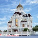 4 Kiến trúc biệt thự lâu đài mặt tiền 14m tại hà nam sh btld 0043