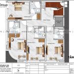 4 Mặt bằng tầng 2 3 4 5 khách sạn tân cổ điển 5 tầng tại quảng ninh sh ks 0079
