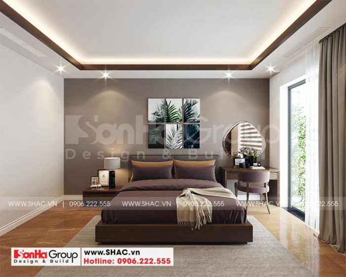 Nội thất phòng ngủ lãng mạn và ấm cúng dành cho căn hộ cao cấp tại Waterfront City