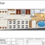 5 Bản vẽ tầng 3 khách sạn có bể bơi kiểu tân cổ điển sh ks 0075