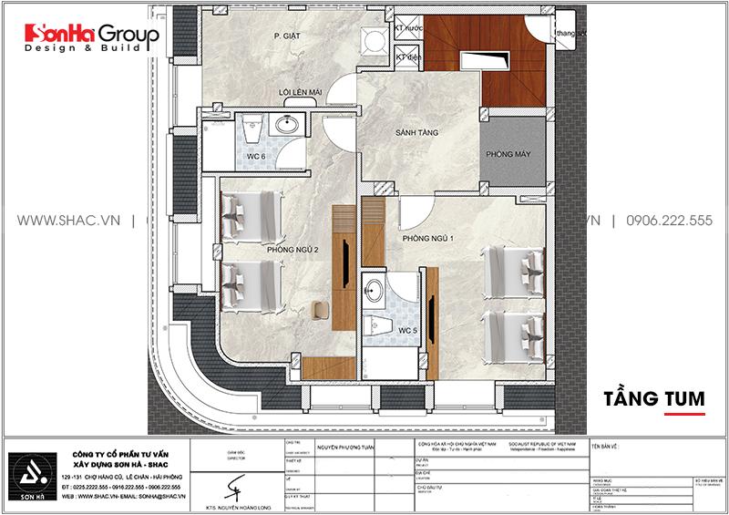 Mẫu khách sạn mini 2 sao kiến trúc tân cổ điển 8,5x9m tại Quảng Ninh – SH KS 0079 6