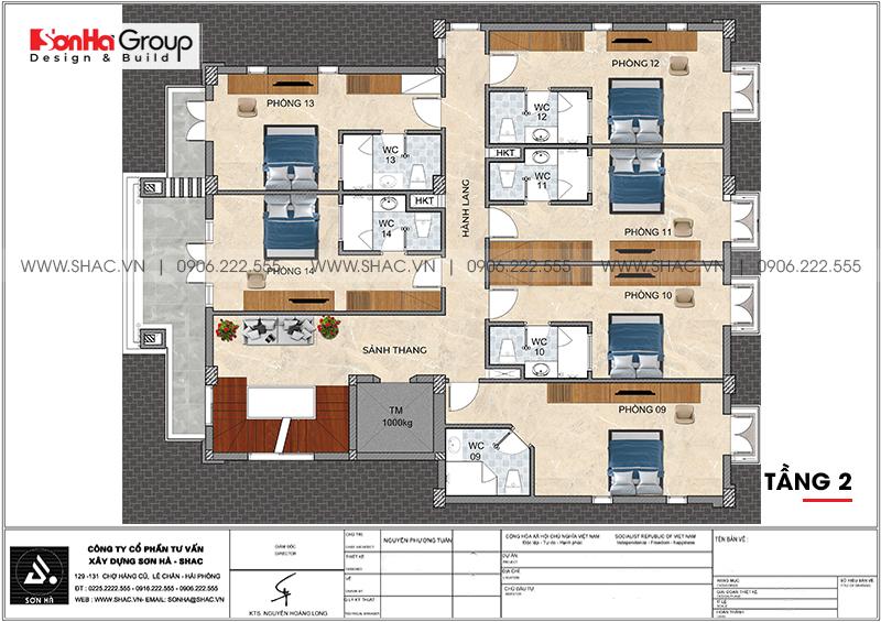 Kinh doanh đại thắng với thiết kế khách sạn hiện đại mini phong thủy tại Quảng Ninh – SH KS 0076 4